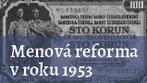 Menová reforma v roku 1953