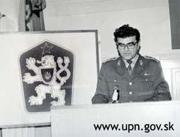Foto: Prejav náčelníka III. správy ZNB