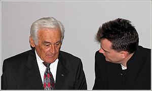 Foto: Milan Paumer počas neformálneho rozhovoru.