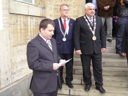 Foto: Príhovor predsedu Správnej rady ÚPN I. Petranského